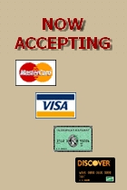 Now Accepting Credit Cards!